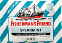 FISHERMANS FRIEND Spearmint ohne Zucker Pastillen