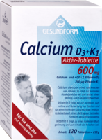 GESUNDFORM Calcium 600 D3+K1 Osteo Tabletten